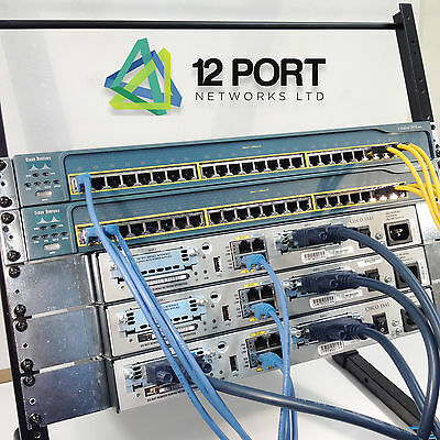 CISCO Rack Lab CCNA  CCNP CCIE (Router Switch 1841 2950) and Rack mounts