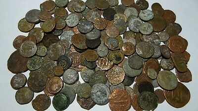 Ancient Bronze Coins  Group Of 200  Variety Greek Roman Byzantine & Later