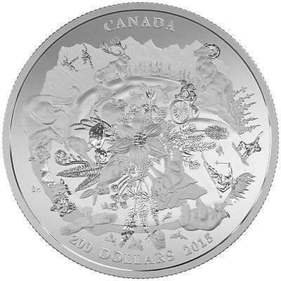 2015 $200 Fine Silver Coin - Rugged Mountains