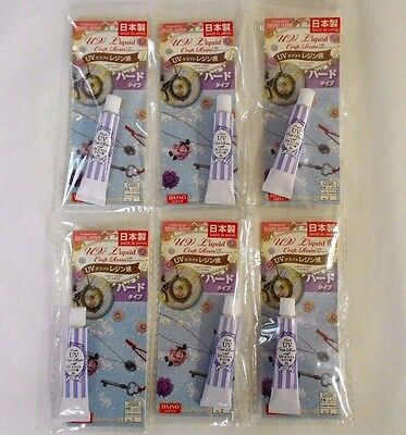DAISO JAPAN  UV Riquid Craft Resin 5g For HARD Surfaces 6SET MADE IN JAPAN!