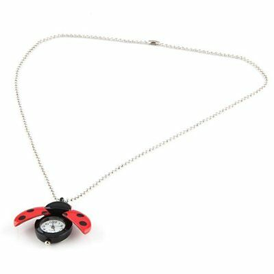 Red Ladybug Necklace Pendant Watch HOT N3