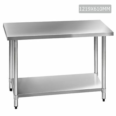 430 Stainless Steel Kitchen Work Bench Table 1219mm Shopiverse Deal