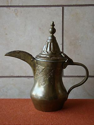 Antique/Old Vintage Copper Handmade Persian/Arabic Coffee/Tea Pot Signed Farvan