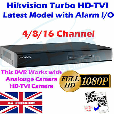 Hikvision 4CH 8CH 16CH Turbo HD TVI DVR  DS-7200HGHI-SH Series with Alarm I/O