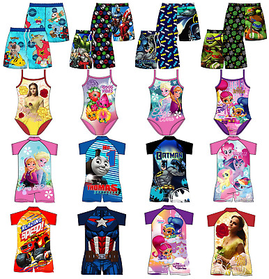 Boys Girls Kids Sunsafe Sunsuit Bodysuit Wetsuit Or Swimming Costume Swimsuit