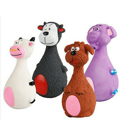 Pet Puppy Latex Chew Squeaker Squeaky Sound Cow Elephant Dog Ball Playing Toys