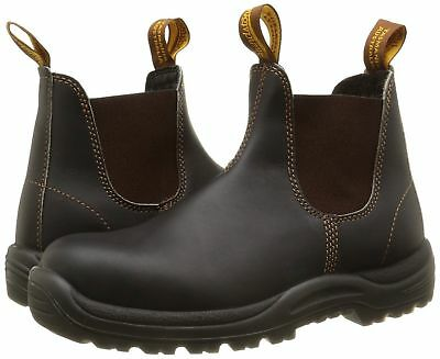 BLUNDSTONE 192 SBP brown leather safety dealer boot with midsole size 4-13 UK