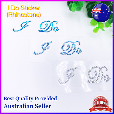 I Do Bridal Shoes Sticker(Rhinestone)/Wedding Wine Glass Sticker New