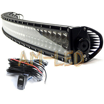 32inch 420W LED WORK LIGHT BAR Curved White COMBO Offroad 4WD RV CAMPER SUV UTE