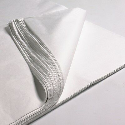 """100 x SHEETS OF WHITE ACID FREE TISSUE WRAPPING PAPER SIZE 450 X 700MM 18 X 28"""""""