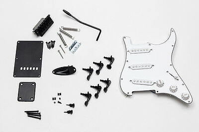 Kit Completo Hardware Guitarra Stratocaster - Full Black Hardware ST Guitar Set