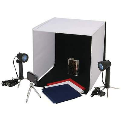 """Complete Photo Studio 16.5"""" Photography Kit Lighting Tent Backdrops Cube NEW"""