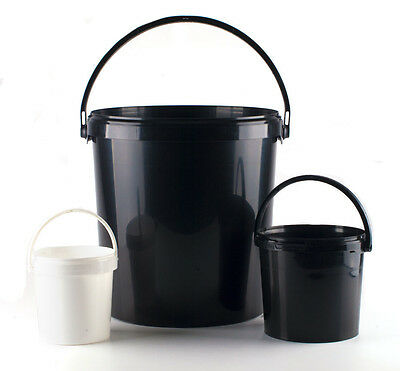Multi Purpose Plastic Buckets with Lids, Paint cans Storage Decorator Builders