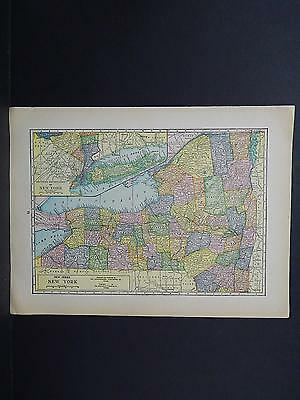 United States, Old Map, Double Sided M6#29 New York and North Carolina