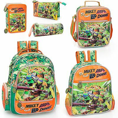 Ninja Turtles Backpack School Travel Lunch Bag Rucksack Teenage Mutant OFFICIAL
