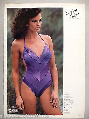 DeWeese Designs PRINT AD - 1981 ~~ swimwear, bathing suit, swimwear