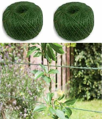 Green Jute Garden Twine Horticultural String Line Rope Tie Back Florist Craft