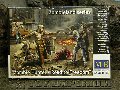 "Master Box Models 1:35 Scale Deluxe ""Zombie Hunter - Road To Freedom"" Model Kit"