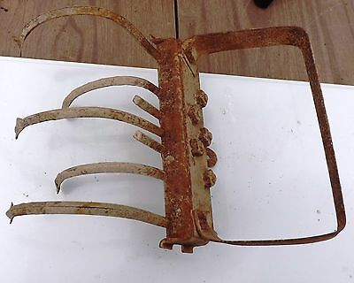 Vintage 5 Tine Steel/ Iron Garden Plow Cultivator Part - Rustic Farm Decor