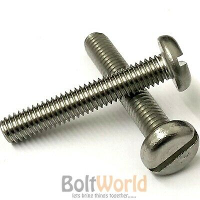 M3 M4 M5 A2 Stainless Slotted Machine Screws Metric Pan Head Bolts Screw Din85