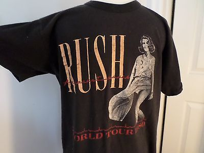 Vtg 1980 RUSH Permanent Waves World Tour Band Concert T-Shirt Size L