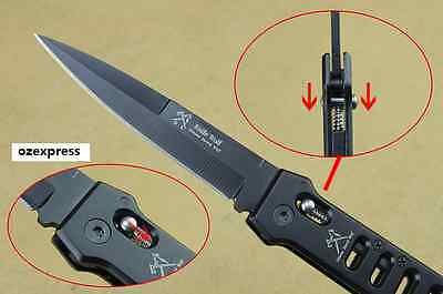 Folding Knife Stainless Steel Blade Aluminum Handle Survival Camping Knife