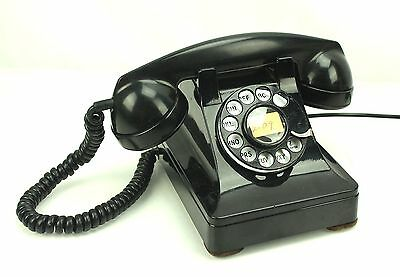Antique Western Electric 302 C Black Metal Rotary Telephone