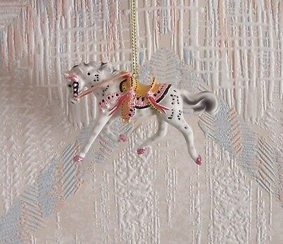 Trail Of The Painted Ponies Tickled Pink Christmas Ornament