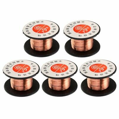 5pcs 0.1MM Copper Soldering Solder PPA Enamelled Repair Reel Wire 15m