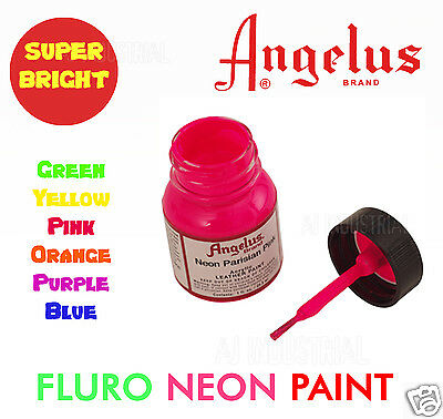 Fluro Paint Super Bright For Leather & Synthetic & Crafts Acrylic  6 Colors !!!!