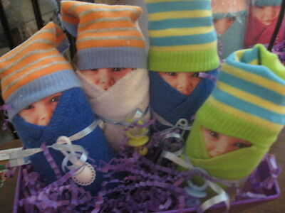 Diaper Babies Set of 6 - Gifts for Baby Showers, New Mommys