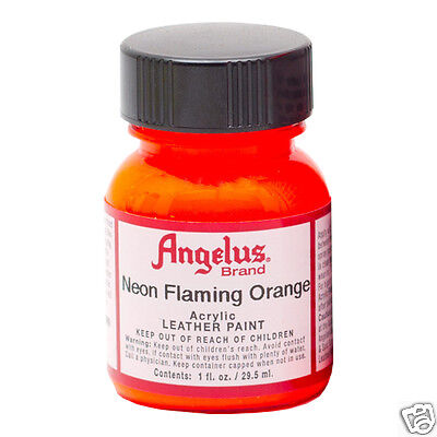 Orange Fluro Paint Acrylic Super Bright For Leather & Synthetic & Crafts !!!!
