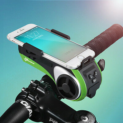 RockBros Multifunction Bicycle Cycling Audio Player Bike Bell Light Phone Holder
