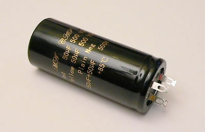 50+50uF 500V Twin Double Capacitor for Marshall Valve Audio Guitar Amplifier