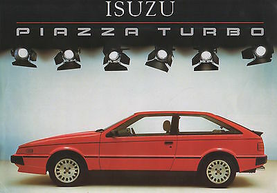 Isuzu Piazza Turbo Press Photograph PLUS Sales Brochure - 1985