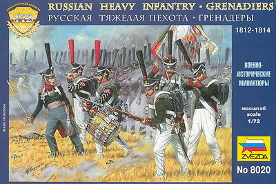 Zvezda - Russian heavy infantry - Grenadiers 1812-1814 - 1:72