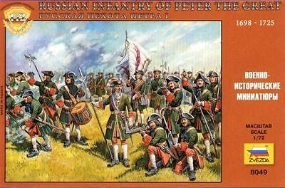 Zvezda - Russian infantry of Peter the great 1698-1725 - 1:72