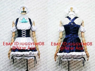Chobits Chii Maid Lolita Cosplay Costume (CH.30) Outfit Headdress Dress Apron