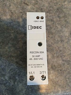 IDEC RSCDN-30A 30 AMP 600 VAC Solid State Relay