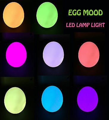 New Led Egg Mood Light Colour Changing Night Portable Safety Bedside Baby Lamp