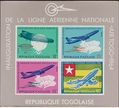 (TOA-35) 1964 Togolaise M/S national air lines MUH
