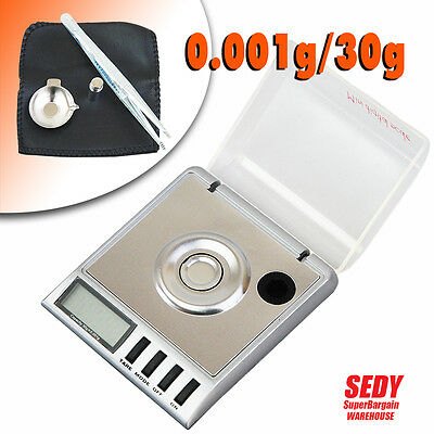 NEW MINI 30g 0.001g DIGITAL POCKET SCALE JEWELRY PRECISION ELECTRONIC WEIGHT LAB