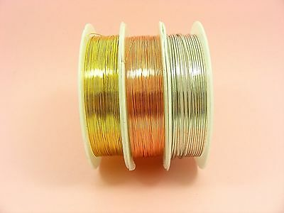 COPPER Brass Artistic Beading WIRE for Jewellery Making, DIY Craft 0.2mm  - 1mm