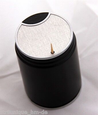 Dispenser Toothpick Holder Pick Plastic Box Tooth Automatic Black New