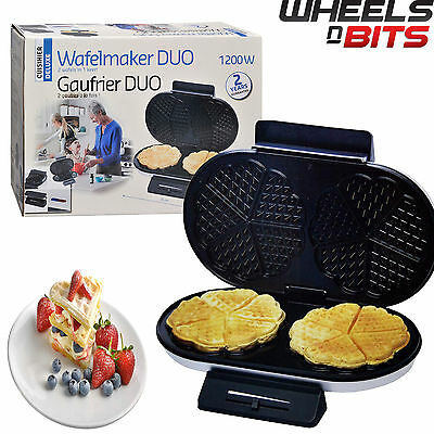 NEW WNB Electric Double 2 Belgian Waffle Maker Iron Non Stick Stainless Machine