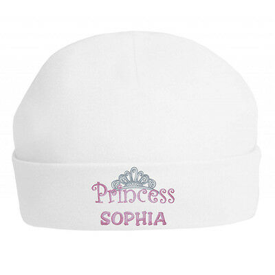 New Born Beanies Embroidered Gift Idea Fun PERSONALISED PRINCE BABY HATS