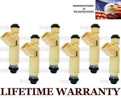 19LB 4 Hole Upgrade 6X Genuine Ford Fuel Injectors For Ford Mercury Mazda 3.0L