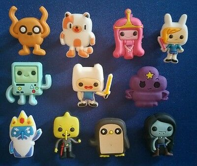 11 Pc Adventure Time Jibbitz Shoe Charms Cake Toppers Party Favors Wristbands