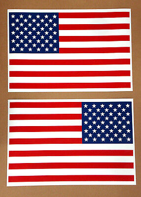 """2 AMERICAN US FLAG 100% MAGNETIC SIGNS LARGE 12""""x18"""" ONE OF EACH DIRECTION"""