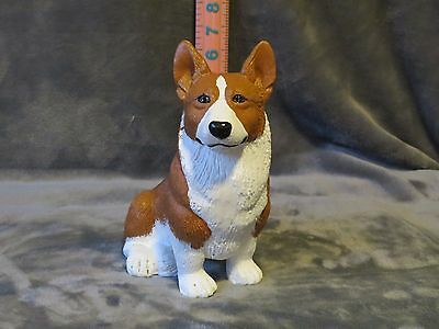 Welsh Corgi Pembroke Plaster Dog Statue Hand Cast And Painted By T.c. Schoch
